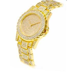 NEW Luxury Quartz Bling Watch Gold Colour